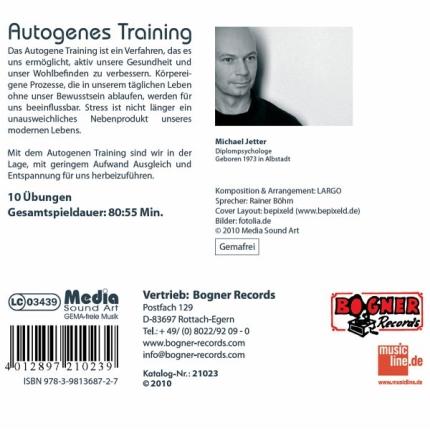 Autogenes Training - CD-Rückseite