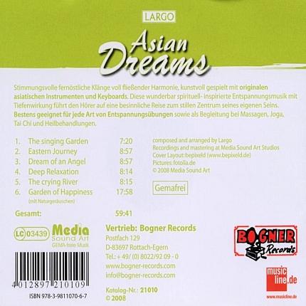 Largo Asian Dreams - Wellness für die Seele - Rueckseite-CD