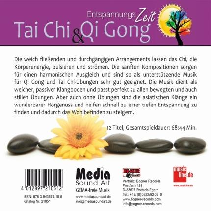 Tai Chi & Qi Gong - Regenerative Entspannungsmusik - Rueckseite